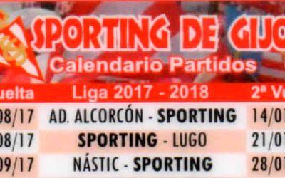 Calendario de partidos del Sporting